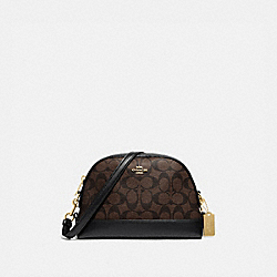 DOME CROSSBODY IN SIGNATURE CANVAS - IM/BROWN/BLACK - COACH F76674IMAA8