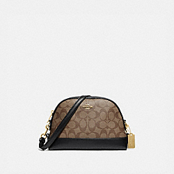 DOME CROSSBODY IN SIGNATURE CANVAS - IM/KHAKI/BLACK - COACH F76674