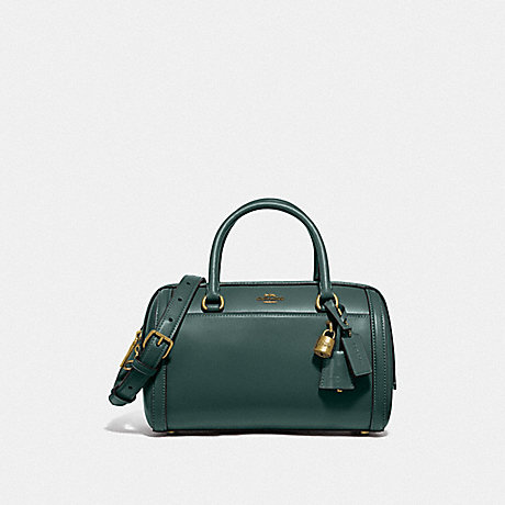 COACH ZOE BARREL SATCHEL - IM/EVERGREEN - F76705