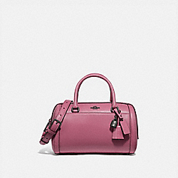 ZOE BARREL SATCHEL - QB/PINK ROSE - COACH F76705