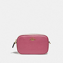 CONVERTIBLE BELT BAG IN COLORBLOCK - ROUGE MULTI/GOLD - COACH F76761