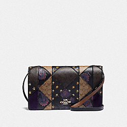 HAYDEN FOLDOVER CROSSBODY CLUTCH IN SIGNATURE PATCHWORK - IM/BLACK MULTI - COACH F76768IMA47