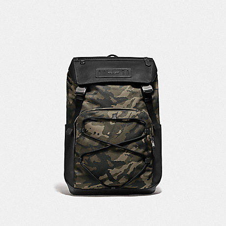 COACH TERRAIN BACKPACK WITH CAMO PRINT - GREEN/BLACK ANTIQUE NICKEL - F76786