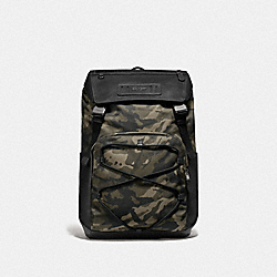 TERRAIN BACKPACK WITH CAMO PRINT - GREEN/BLACK ANTIQUE NICKEL - COACH F76786
