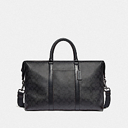 TREKKER BAG IN SIGNATURE CANVAS - BLACK/BLACK/OXBLOOD/BLACK COPPER FINISH - COACH F76811