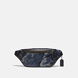 WARREN BELT BAG IN SIGNATURE CANVAS WITH CAMO PRINT - BLUE MULTI/BLACK ANTIQUE NICKEL - COACH F76842