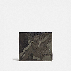 3-IN-1 WALLET WITH CAMO PRINT - GREEN/BLACK ANTIQUE NICKEL - COACH F76851