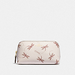 COSMETIC CASE 17 WITH DRAGONFLY PRINT - IM/CHALK MULTI - COACH F76898