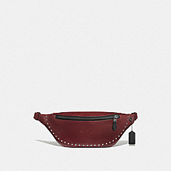 WARREN BELT BAG WITH SIGNATURE MOTIF AND STUDS - QB/CURRANT - COACH F76910