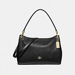 MIA SHOULDER BAG - BLACK/GOLD - COACH F76921