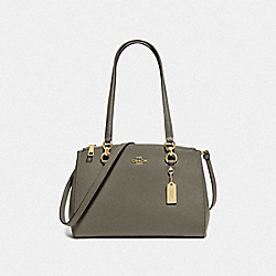ETTA CARRYALL - MILITARY GREEN/GOLD - COACH F76938