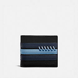 3-IN-1 WALLET WITH BASEBALL STITCH - BLACK/ MIDNIGHT NAVY/ WASHED BLUE/BLACK ANTIQUE NICKEL - COACH F76947