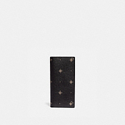 BREAST POCKET WALLET WITH GEO FOULARD PRINT - BLACK MULTI/NICKEL - COACH F76984