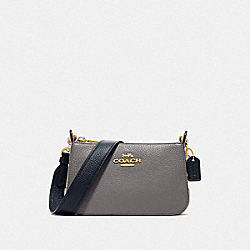 JES CROSSBODY IN COLORBLOCK - IM/HEATHER GREY CHALK MULTI - COACH F76989IMP50