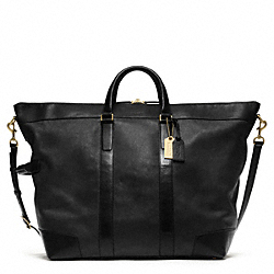 CROSBY LEATHER DUFFLE - BRASS/BLACK - COACH F77247