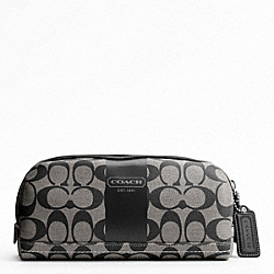 COACH HERITAGE STRIPE TRAVEL KIT