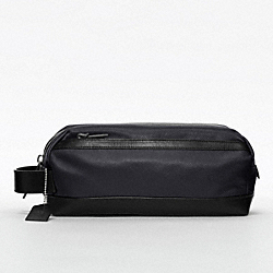 BLEECKER EMBOSSED TEXTURED LEATHER TRAVEL KIT - f77294 - NAVY