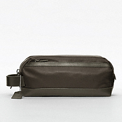 BLEECKER EMBOSSED TEXTURED LEATHER TRAVEL KIT - OLIVE - COACH F77294