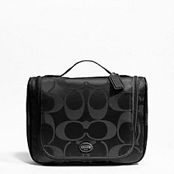 SIGNATURE NYLON PACKABLE COSMETIC CASE COACH F77310