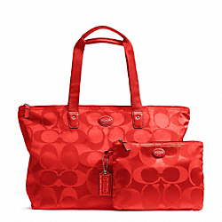 COACH GETAWAY SIGNATURE NYLON PACKABLE WEEKENDER - ONE COLOR - F77321