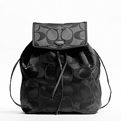 GETAWAY SIGNATURE PACKABLE BACKPACK - SILVER/BLACK/BLACK - COACH F77350