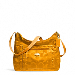 COACH GETAWAY SIGNATURE PACKABLE CROSSBODY - BRASS/ORANGE SPICE - F77369