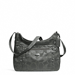 COACH GETAWAY SIGNATURE PACKABLE CROSSBODY - SILVER/GREY - F77369