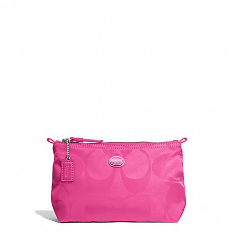 COACH GETAWAY SIGNATURE NYLON MINI COSMETIC POUCH -  - f77382