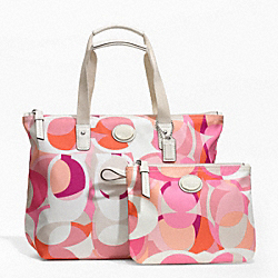 COACH GETAWAY KALEIDOSCOPE PRINT SMALL PACKABLE TOTE - ONE COLOR - F77389