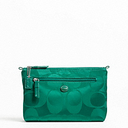 COACH GETAWAY SIGNATURE NYLON COSMETIC POUCH - ONE COLOR - F77391