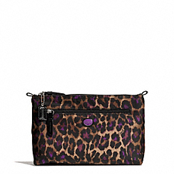 COACH GETAWAY OCELOT PRINT COSMETIC POUCH - ONE COLOR - F77463