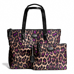 GETAWAY OCELOT PRINT SMALL PACKABLE TOTE - f77476 - 25104