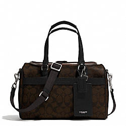 COACH SIGNATURE COATED CANVAS TRAIN CASE - SILVER/BROWN/BLACK - F77510
