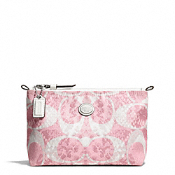 GETAWAY SNAKE C PRINT MINI COSMETIC POUCH COACH F77519