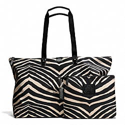 COACH GETAWAY ZEBRA PRINT LARGE WEEKENDER - ONE COLOR - F77525