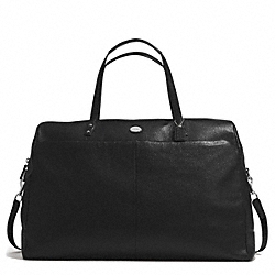 PEBBLED LEATHER LARGE BOSTON BAG - SILVER/BLACK - COACH F77544