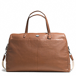 PEBBLED LEATHER LARGE BOSTON BAG - SILVER/CAMEL - COACH F77544