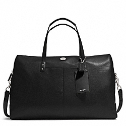 COACH PEBBLED LEATHER BOSTON BAG - SILVER/BLACK - F77554