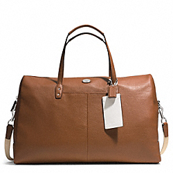 PEBBLED LEATHER BOSTON BAG - SILVER/CAMEL - COACH F77554