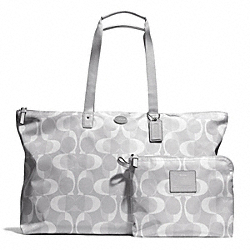 DREAM C LARGE WEEKENDER - SILVER/LIGHT GREY - COACH F77569