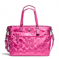 COACH SIGNATURE NYLON BABY BAG - ONE COLOR - F77577