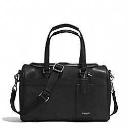 COACH SAFFIANO TRAIN CASE - SILVER/BLACK - F77607