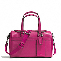 COACH SAFFIANO TRAIN CASE - SILVER/RASPBERRY - F77607