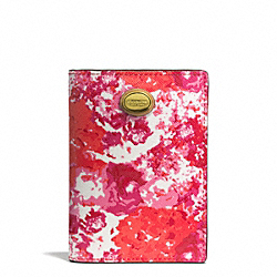 COACH PEYTON FLORAL PRINT PASSPORT CASE - ONE COLOR - F77615