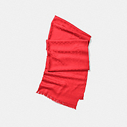 SIGNATURE C STOLE - f77672 - BRIGHT PERSIMMON