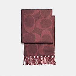SIGNATURE C MUFFLER - OXBLOOD - COACH F77673