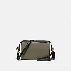BENNETT CROSSBODY IN COLORBLOCK - MILITARY GREEN MUTLI/GOLD - COACH F77685
