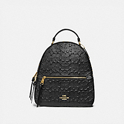 JORDYN BACKPACK IN SIGNATURE LEATHER WITH RIVETS - BLACK/GOLD - COACH F77688