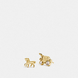 HORSE AND CARRIAGE STUD EARRINGS - GOLD - COACH F77695