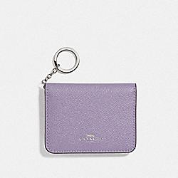 BIFOLD CARD CASE - LILAC/SILVER - COACH F77696